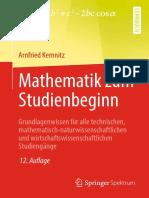 Kemnitz - Mathematik Zum Studienbeginn (2019)