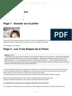 Dossier Sur La Priere