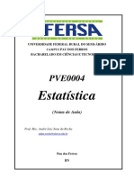 UFERSA - Estatística - Prof. André Rocha [Apostila] 2014