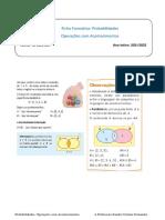 Ficha  Formativa Estatistica- Operações com Acontecimentos EAC e IGR