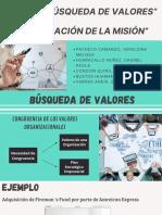 GRUPO 4  BÚSQUEDA  DE VALORES Y FORMULACIÓN DE LA MSIÓN