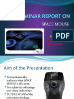 A SEMINAR REPORT ON SPACE MOUSE