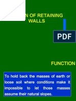 DESIGN OF RETAINING WALL