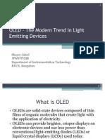 OLED – The Modern Trend in Light Emitting1