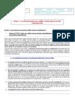 Fiche 3 la transformation des conflits sociaux dans la société contemporaine du chapitre conflits et mobilisation sociale 2010 2011