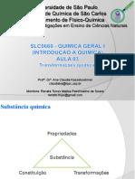 03 - Quimica I - Aula 03 - Tipos de reações quimicas