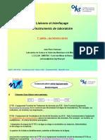 Pour JP VOLA Liaisons Et Interfacage d Instruments de Laboartoire