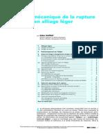 Fatigue Et Mécanique de La Rupture Des Pièces en Alliage Léger