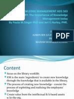 KNOWLEDGE MANAGEMENT ADS 503 2