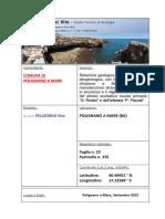 Polignano a Mare (BA) TAV_Rel_geologica Batimetriche