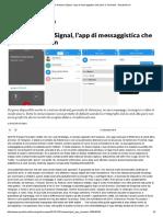 Come funziona Signal, l'app di messaggistica che piace a Snowden - Repubblica.it