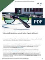 Gli occhiali da sole con pannelli solari al posto delle lenti _ Libero Tecnologia