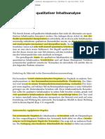 Qualitative Inhaltsanalyse 5. Techniken Qualitativer Inhaltsanalyse (1)