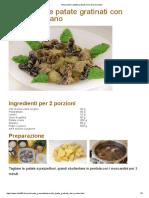 Moscardini e patate gratinati con salsa al sedano