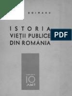 Istoria vieţii publice din România