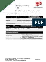 Penny Mobil 6 Monats Paket Produktinformationsblatt