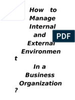 External and internal environment