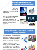 Using PRISM for Recruitment, Selection,