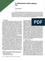 P4_Analyse d'Un Coupleur Bidirectionnel a Fibres Optiques