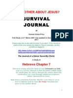 SURVIVAL JOURNAL Hebrews Chapter 7 Why Bother About Jesus 17.4