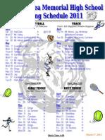Bulldog Spring Schedule 2011