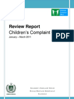 Children's Complaint Office - Monthly Report 2011
