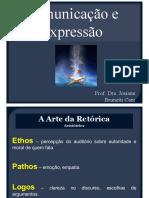 Apresentação Comunicação e Expressão - Prof.ª Josiane Brunetti Cani