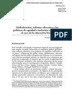 Globalización y Reforma Educativa y Las Políticas de Equidad en Inclusión en México Educación Básica