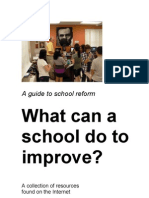 A Guide to School Reform BOOKLET  Build The Future Education  (Humanistic Education) compiled by Steve McCrea and Mario Llorente