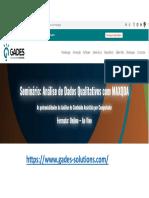 Potencialidades Da Análise de Conteúdo Com MAXqda 2021