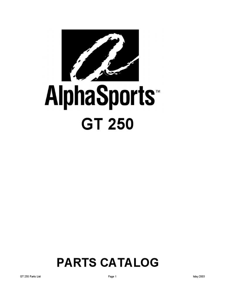 Parts Catalog: GT 250 Parts List May 2003