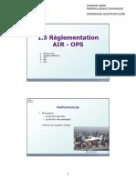 1.3 Règlementation AIR OPS