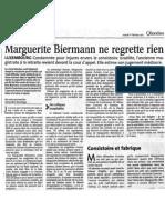 Marguerite Biermann ne regrette rien
