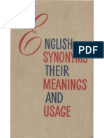 English Synonyms Their Meanings and Usage