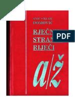 Anic, Klaic, Domovic - Rjecnik stranih rijeci