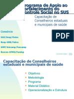 Capacitação de conselheiros municipais e estaduais de saúde