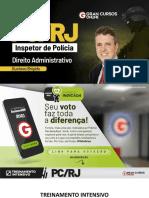 Treinamento Intensivo PC RJ - Inspetor de Polícia – Direito Administrativo Prof. Gustavo Brigido. 12.10