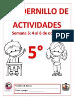 ❄️5° S6 CUADERNILLO DE ACTIVIDADES Y REFORZAMIENTO