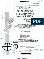 Apollo 17 Lunar Module Onboard Voice Transcription