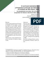 CIAMPI Helenice et al. O currículo bandeirante