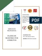 Practica de ejercicios para Planes de Muestreo. Aux Juan Carlos Tapia A.
