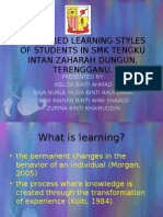 PREFERRED LEARNING STYLES OF STUDENTS IN SMK TENGKU