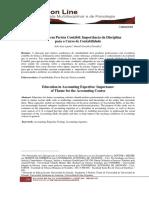 Educação em Perícia Contábil - Importância da Disciplina para o Curso de Contabilidade