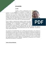 Mensaje de Bienvenida de Carlos Gómez Miramda