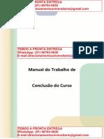 Manual Do Trabalho de Conclusão Do Curso – Enfermagem