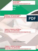 o Planejamento de Aulas de Educação Física Para Os Anos Finais Do Ensino Fundamental – Educação Física Licenciatura Semestre 6º Reg e 5º Flex