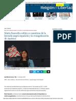 María Saavedra refuta 10 mentiras de la leyenda negra española y la evangelización de América - ReL