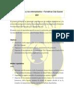 Protocolo modificado DIVISIONES FORMATIVAS - CLUB GUARANÍ 2021 - Dr Danilo