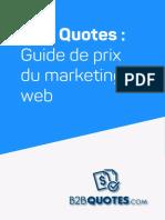 Guide de prix sites web 2021