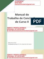 Trabalho de Conclusão de Curso II O TCC II Deverá Ser Inserido No Ambiente Virtual de Aprendizagem - Serviço Social